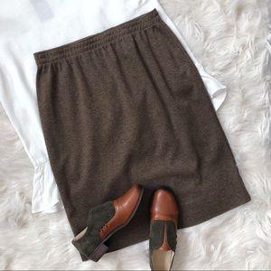 Cathy Daniels Brown Knit Skirt